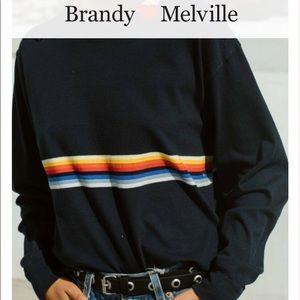 Brandy Melville Acacia Rainbow Top